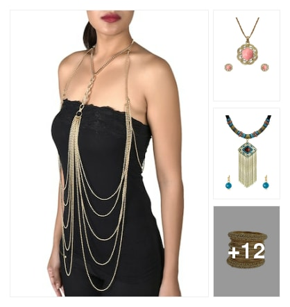 Blingy accessories. Online shopping look by SHwetha