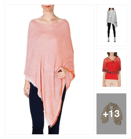 Luvly Ponchos wid fringes lace n tassels !. Online shopping look by niti