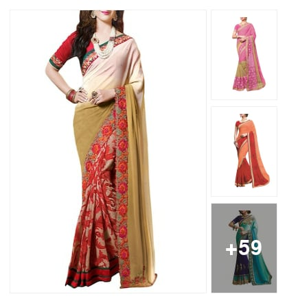 RIDHAM SAREES. Online shopping look by SURYA
