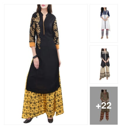 Kurtas set. Online shopping look by Teju
