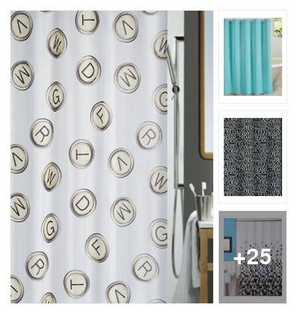 Shower Curtains . Online shopping look by sandhya