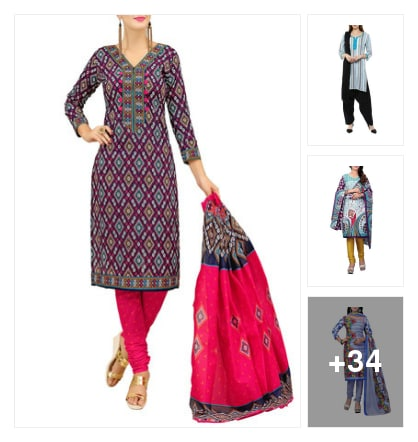 Stiched dresses . Online shopping look by vinod