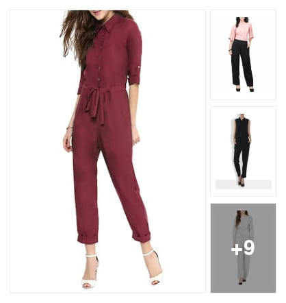 Work wear jumpsuits. Online shopping look by bhargavi