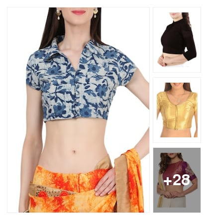 Cute blouses for women. Online shopping look by kavya