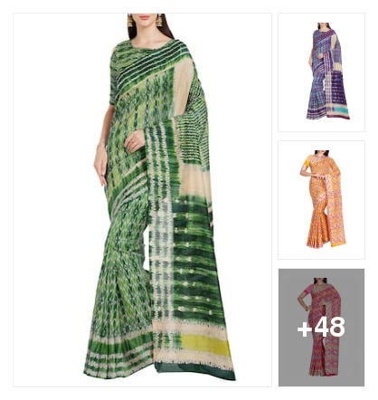 Ikat saree. Online shopping look by goutam