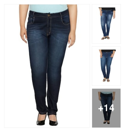 Jeans For Plus Size Beauties. Online shopping look by Limeroad