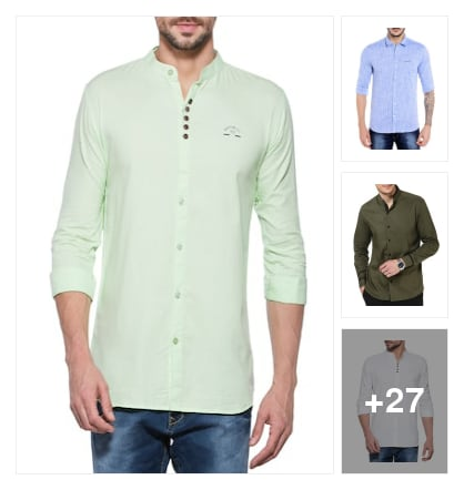 Cute shirts for men. Online shopping look by P