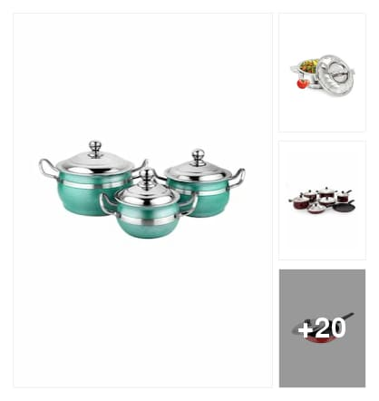 cookware products. Online shopping look by hashwitha