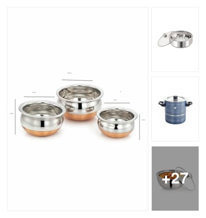 . Good cookware under 499. Online shopping look by Chandra