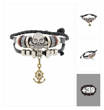 Gents bracelets. Online shopping look by Geeta