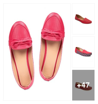 Red chappal for girls. Online shopping look by veda