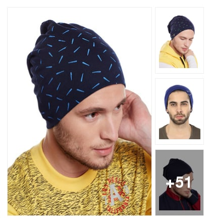 Winter cap for men. Online shopping look by Reena