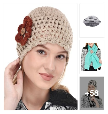 Winter accessories caps n mufflers. Online shopping look by meenu