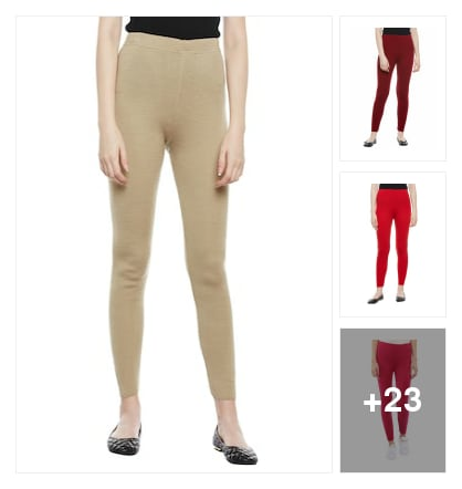 Wool Leggings. Online shopping look by Shona