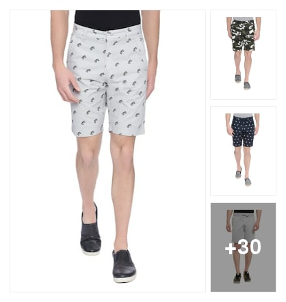 Cotton short. Online shopping look by goutam