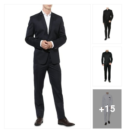 Suits for men . Online shopping look by Renu