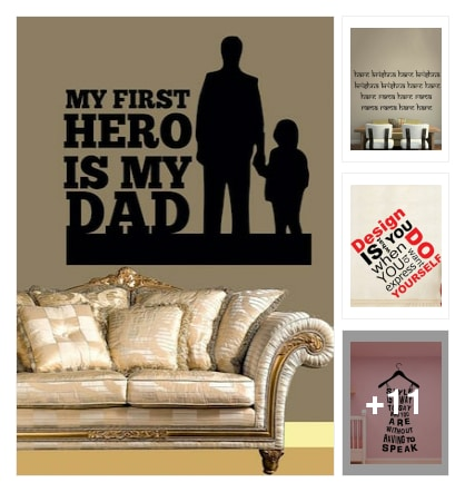 Wall Decors With Beautiful Quotes N Lines. Online shopping look by Sunehri