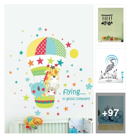 Wall decal and stickers 2018. Online shopping look by Vijay