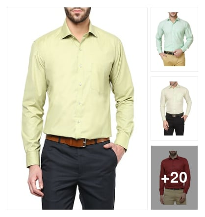 Formal shirts for men. Online shopping look by kavita