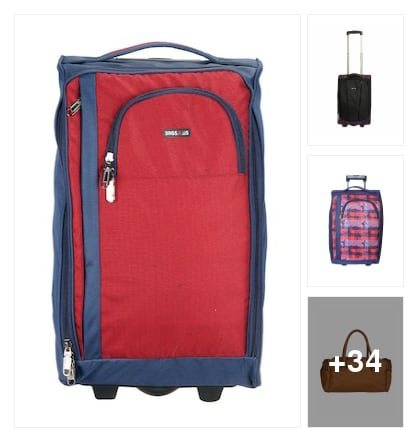 Luggage bags and trolley bags. Online shopping look by Arshith