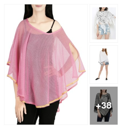 Summer Poncho & Jacket. Online shopping look by Sunita