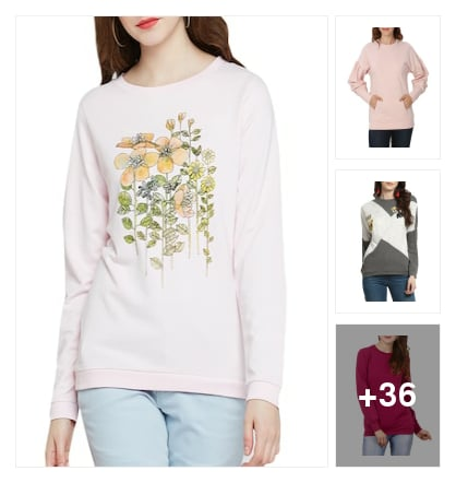 "Trendiest sweatshirt is here 👇👇👇. Online shopping look by Trends update by ""Sheetal Thakur"""