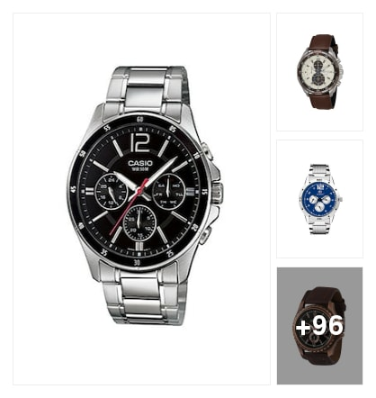 Mens chronograph watch. Online shopping look by nikku.gupta512