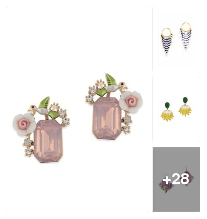 Aesthetic Earrings Are Just What You Need. . Online shopping look by Pankh