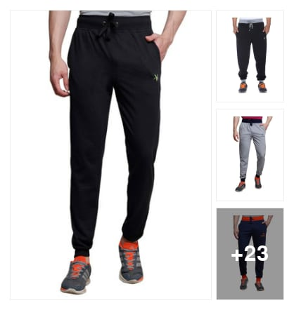 "Cotton jogger pants for men. Online shopping look by Trends update by ""Sheetal Thakur"""