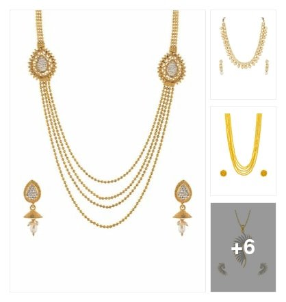 Branded Necklace. Online shopping look by kavita