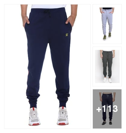 To get moving joggers. Online shopping look by kishore