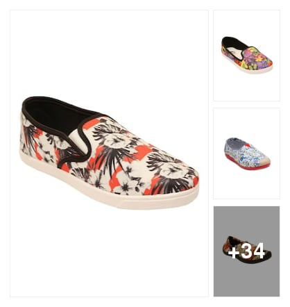 Printed shoes for  every where. Online shopping look by Geeta