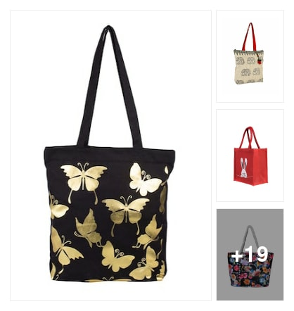 Shopping bags totes for girls. Online shopping look by SHYAMALA