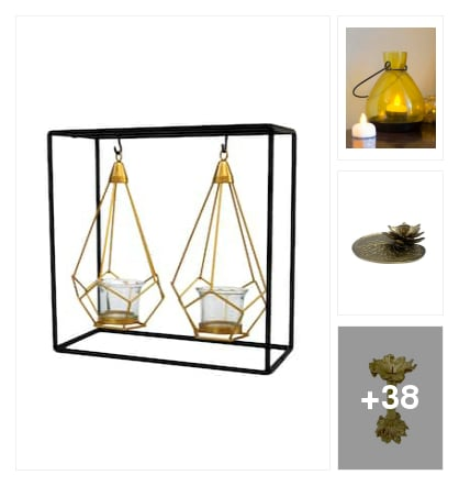 stylish candle holders. Online shopping look by vihaan