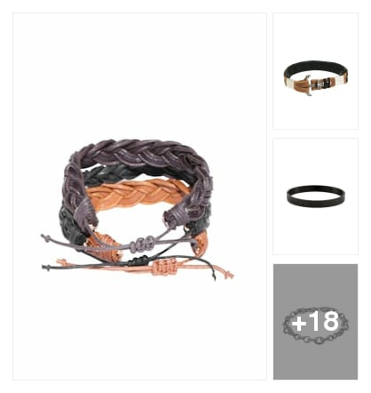 Men bracelets. Online shopping look by vkram