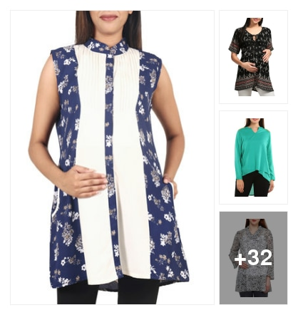 Maternity Tops: Fashion & Comfort in  One look. Online shopping look by Lucky