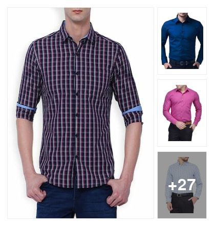 Formal shirts for men. Online shopping look by KESHAVA