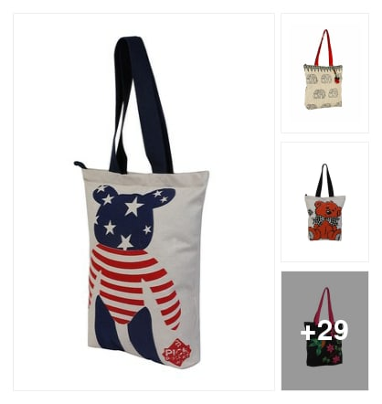 Shopping totes. Online shopping look by sudhakar