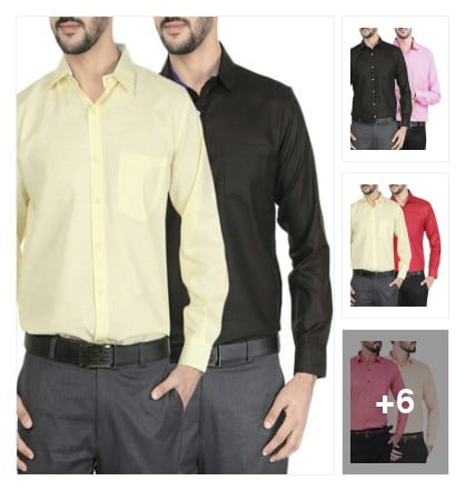 Multi Colored Cotton Formal Shirt. Online shopping look by cvenkataraghavendra