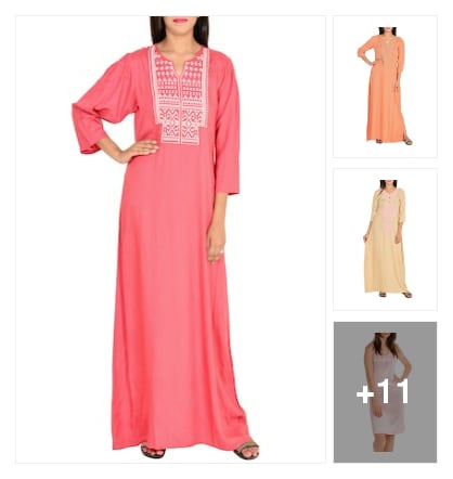 Rayon nightyes. Online shopping look by nandan