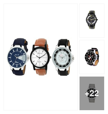 Watches for men. Online shopping look by lahari
