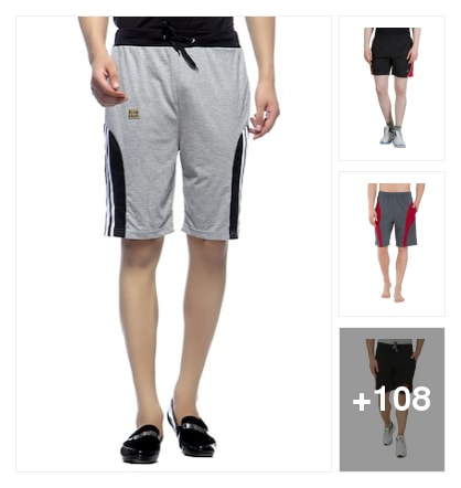 Cotton shorts for men. Online shopping look by sreenu
