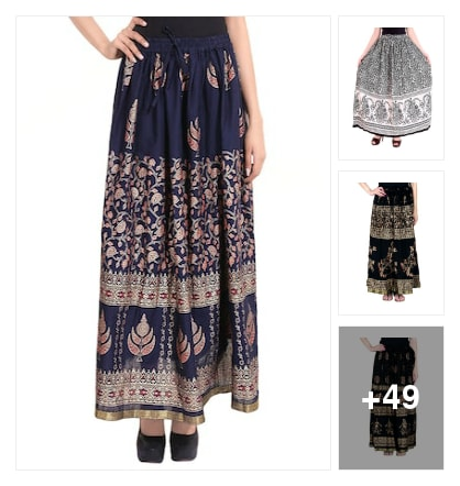 Skirt collection. Online shopping look by Reena