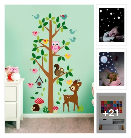 Animals wall stickars. Online shopping look by chinni