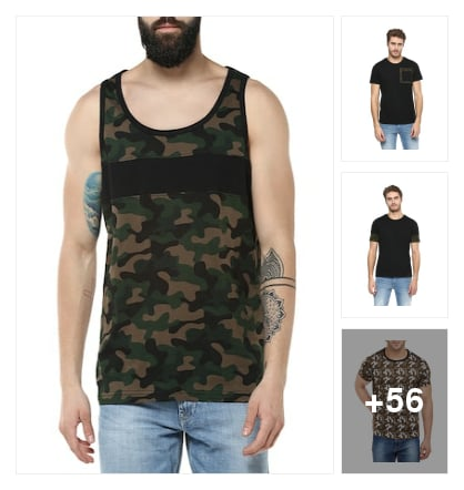 camouflage T-shirts. Online shopping look by B