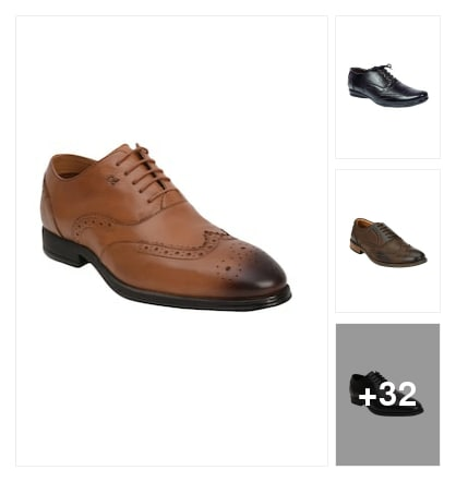 Brogue Shoes:  The artistic choice  perforated to Perfection. Online shopping look by Devi