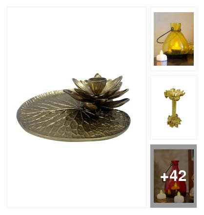 SMART CANDLE HOLDERS. Online shopping look by sunitha