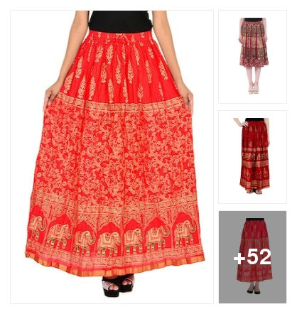 Beautiful ethnicwear skirts. Online shopping look by Geeta