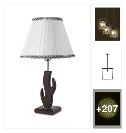 Tredishanal lamps. Online shopping look by vinod