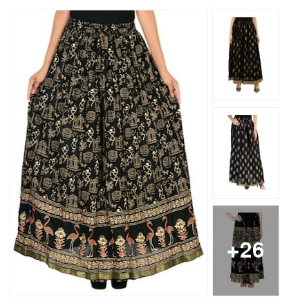 Black long skirts for milky girls. Online shopping look by chow